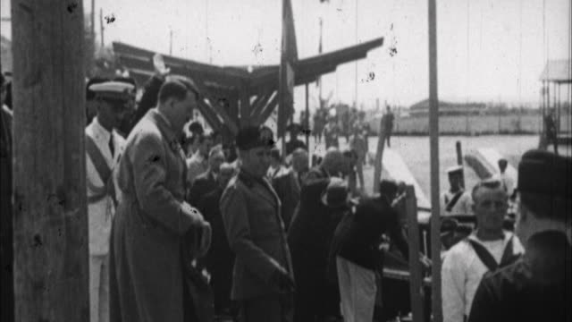 1940s b/w montage benito mussolini and adolf hitler / rome, italy - italian culture stock videos & royalty-free footage
