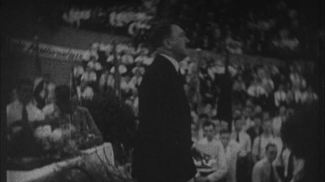 1940s b/w montage early shots of adolf hitler as he rising to power / germany - adolf hitler stock-videos und b-roll-filmmaterial
