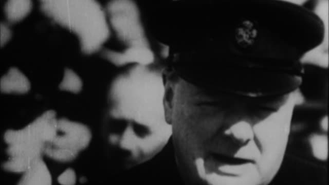 1940s b/w montage winston churchill getting honorary degree at university / united kingdom - film montage stock videos & royalty-free footage