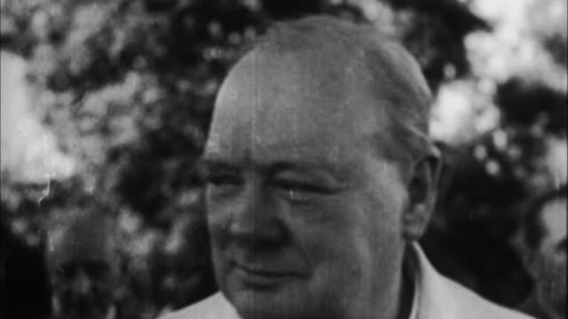 1940s b/w montage winston churchill / united kingdom - winston churchill stock videos & royalty-free footage