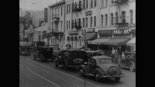 vidéos et rushes de 1940s chinatown in los angeles - 1942