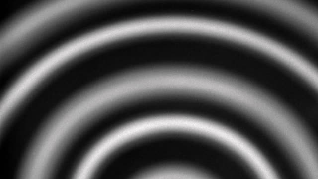 1940s close up black and white pulsating half spiral