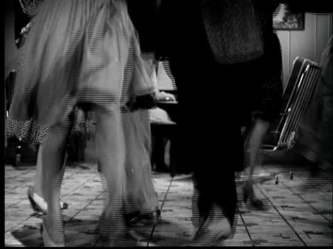 b/w montage 1940s couples dancing, woman playing piano - 1940 stock videos and b-roll footage