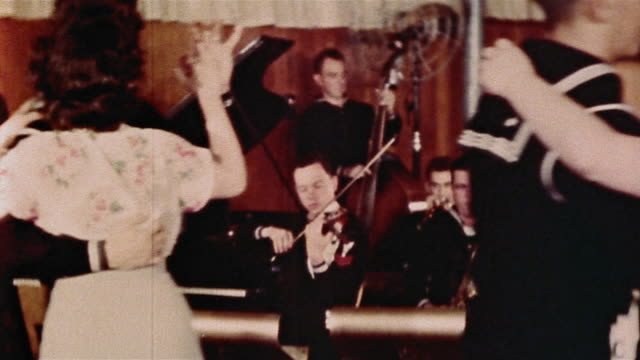 1940s dance at us naval training center / great lakes, illinois - us navy stock videos & royalty-free footage