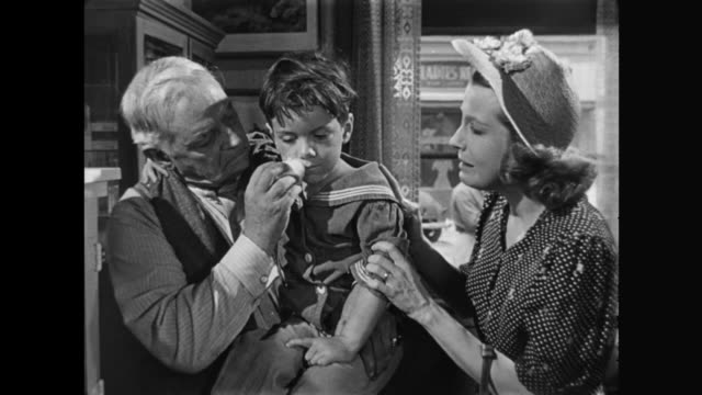 1940s Distraught mother accepts doctor's recommendation of healthy diet for her sick child