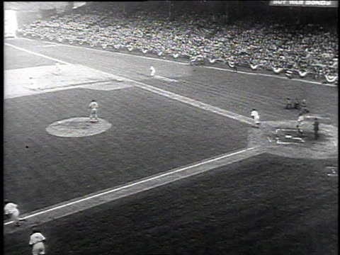 1940s ts dodger baseball game at ebbets field / brooklyn new york united states - ebbets field video stock e b–roll