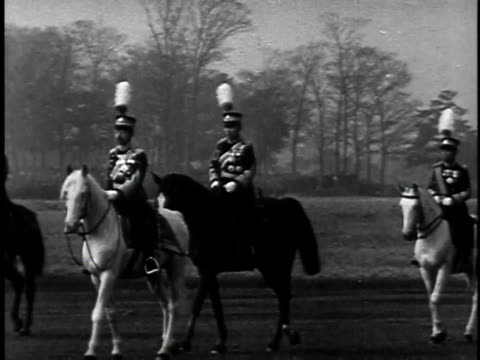 1940s emperor hirohito riding on horseback / japan - recreational horse riding stock videos & royalty-free footage