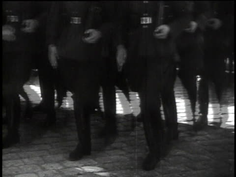 1940s ms goosestepping troops / germany - third reich stock videos and b-roll footage