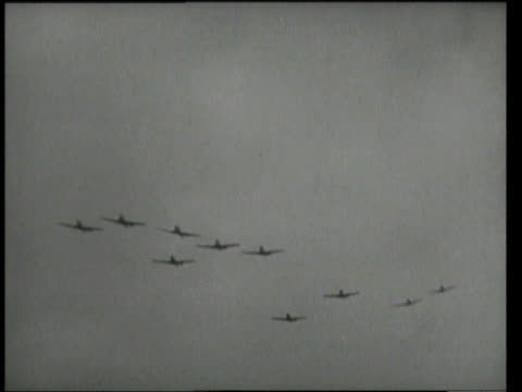 1940s montage bombers / - bomber plane stock videos and b-roll footage