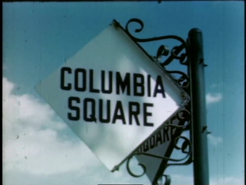 1940s montage columbia square / hollywood, california, united states - 1940 stock videos & royalty-free footage