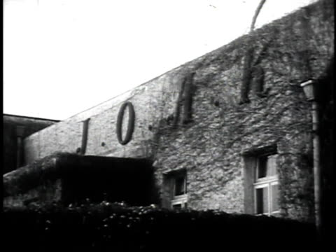 1940s montage communications towers and announcers working in radio station / japan - radio studio stock videos & royalty-free footage