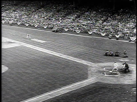1940s montage dodger baseball game at ebbets field / brooklyn new york united states - ebbets field video stock e b–roll