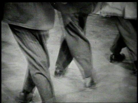 1940s montage men dancing  - jazz stock videos & royalty-free footage