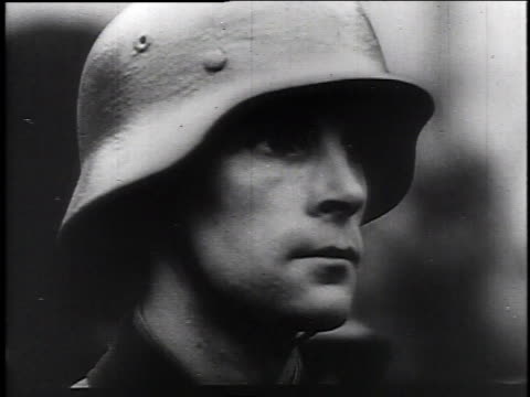 1940s montage young nazi soldiers / germany - wehrmacht stock videos & royalty-free footage