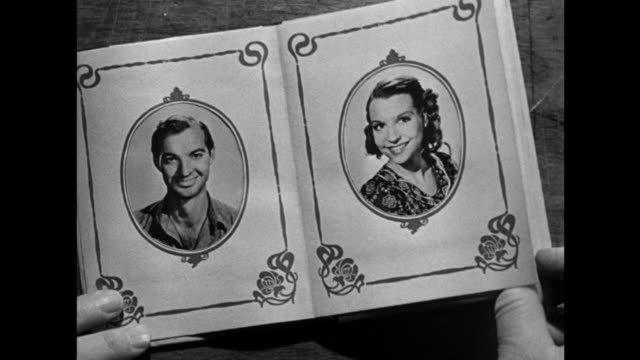1940s narrated picture album presents the main cast (zachary scott, betty field, blanche yurka, percy kilbride, jean vanderwilt, jay gilpin, beulah blondi, charles kemper) - narrating stock videos & royalty-free footage