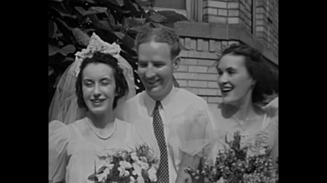 1940s wedding - home movie stock videos & royalty-free footage
