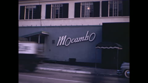 1940s west hollywood night clubs / sunset strip  - home movie - sunset boulevard los angeles stock videos & royalty-free footage