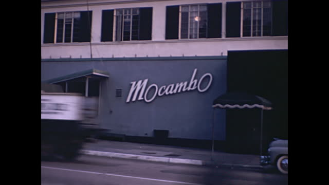 1940s west hollywood night clubs / sunset strip  - home movie - west hollywood stock videos & royalty-free footage