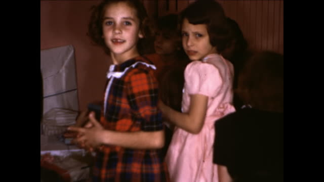 1950s Children at birthday party Home Movie