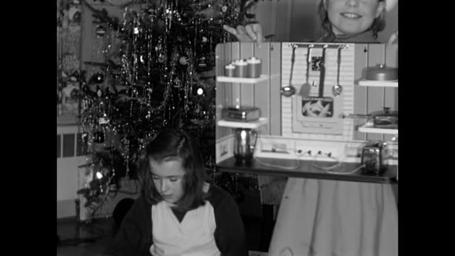 1950s christmas dinner and opening gifts - little girl smoking cigarette stock videos and b-roll footage