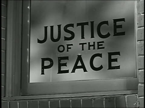 1950s close up justice of the peace sign - justice concept stock videos & royalty-free footage