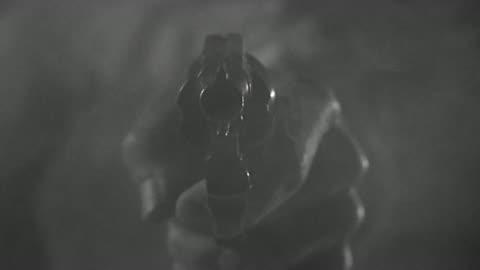 1950s close up man' s hand firing gun / gun smoking - handgun stock videos & royalty-free footage