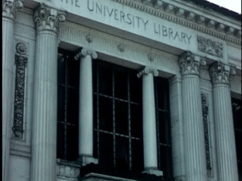 1950s ms, td, doe memorial library at berkeley university, 1950's, california, usa - university of california stock videos & royalty-free footage