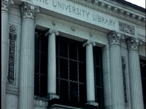 1950s MS, TD, Doe Memorial Library at Berkeley University, 1950's, California, USA