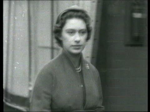 1950s B/W Princess Margaret along STILL Prime Minister Anthony Eden