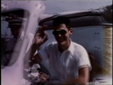 1950s ts good humor ice cream truck driving by, driver waving / levittown, pennsylvania, united states - levittown pennsylvania stock videos and b-roll footage