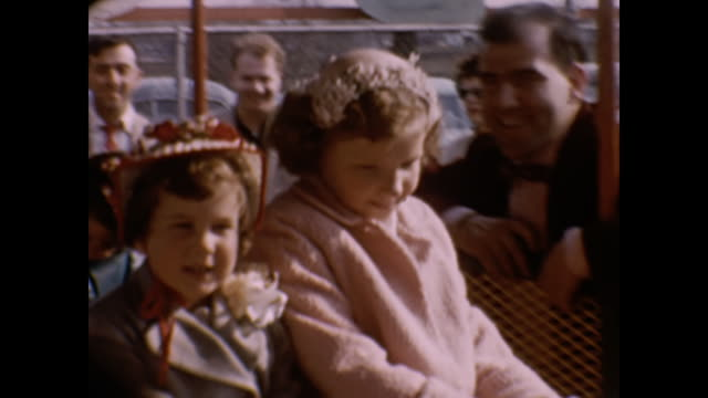 1950s home movie - children at the fair - carousel horse stock videos and b-roll footage