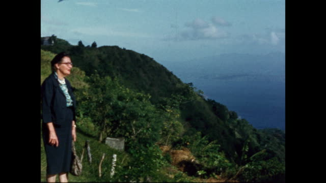 vídeos de stock e filmes b-roll de 1950s home movie - various clips of rural phillippines - filipinas