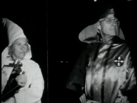 1950s montage meeting of the kkk / georgia united states - confederate flag stock videos & royalty-free footage
