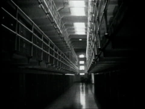 1950s montage men walking through alcatraz / san francisco, california, united states - alcatraz island stock videos & royalty-free footage