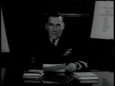 1950s MONTAGE military general defending the use of ships for nuclear testing / United Sates