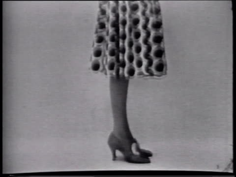 stockvideo's en b-roll-footage met 1950s montage still photos of fashion model, chemstrand corporation - panty