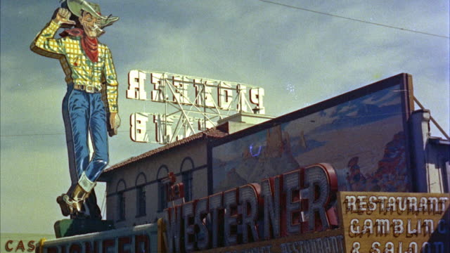 1950s MS Pioneer Club and Westerner Saloon signs / Las Vegas, Nevada, USA