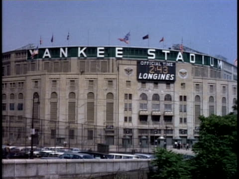 1950s WS Sign on Yankee Stadium / New York, New York, USA