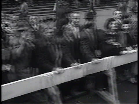 1950s ms spectators watching new york communist party parade / new york new york united states - union square new york city stock videos and b-roll footage