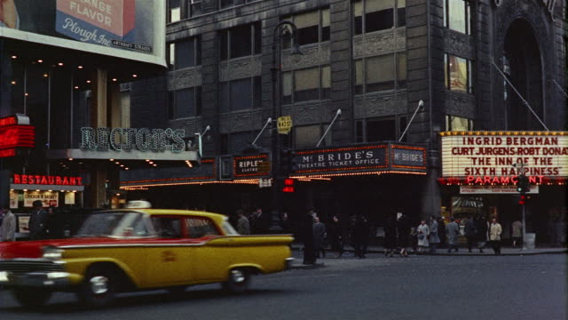 1950s WS PAN Theater marquees, Times Square, New York, New York State, USA