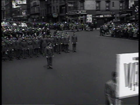 1950s ms veterans marching in new york communist parade / new york new york united states - union square new york city stock videos and b-roll footage