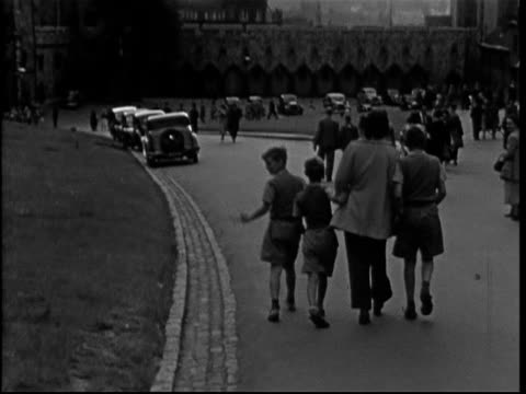 1950s windsor, including cars in high street - berkshire england stock videos and b-roll footage