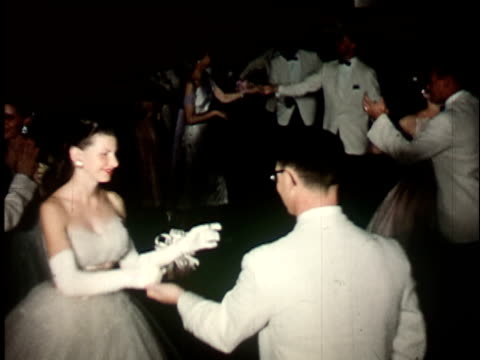 1950s ms, young couples formerly dressed dancing, berkeley, california, usa - elegance stock videos & royalty-free footage