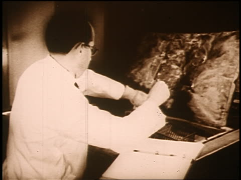 b/w sepia 1950s/60s jonas salk working in laboratory - sepia stock videos and b-roll footage