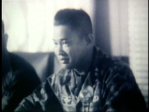 1960s b/w montage south vietnamese military leaders meeting in conference during the early years of the vietnam war / south vietnam - south vietnam stock videos & royalty-free footage