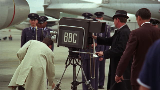 1960s ms camera operators at work during military ceremony - bbc stock videos & royalty-free footage