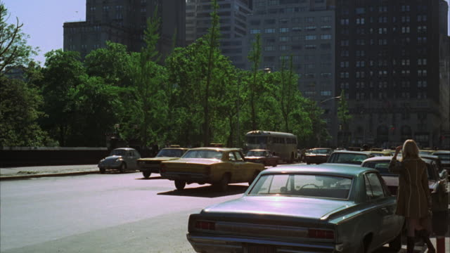 1960s ws car traffic in city / new york city, usa - 1968 stock videos and b-roll footage