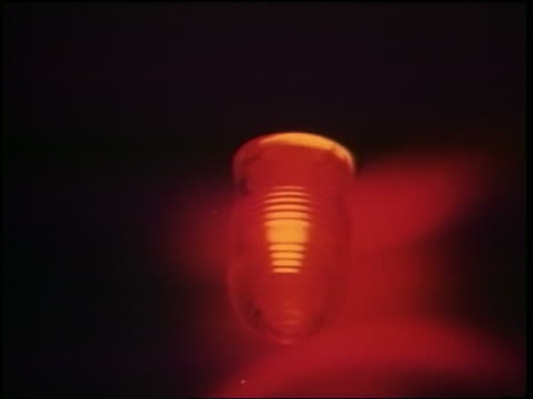 1960s close up flashing red light during emergency / cold war / documentary - cold war stock videos & royalty-free footage
