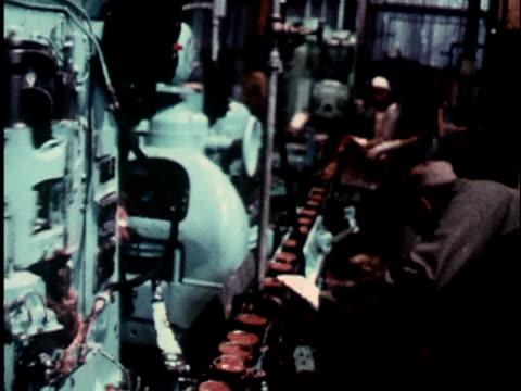 vídeos y material grabado en eventos de stock de 1960s cu, composite, fish processing plant, bristol bay, alaska, usa - 1965