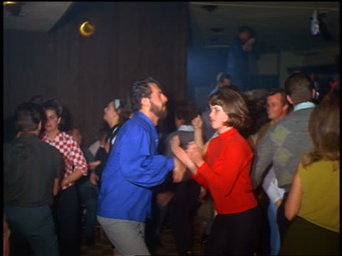 1960s crowd of couples dancing indoors - 1960 stock videos & royalty-free footage